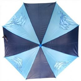 48 Units of Kid Size Fish Umbrells in Blue - Umbrellas & Rain Gear