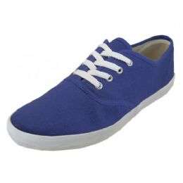 24 Units of Men's Lace Up Casual Canvas Shoe ( *navy Color ) - Men's Sneakers
