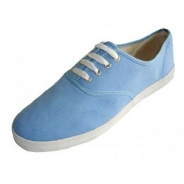 24 Units of Men's Lace Up Casual Canvas Shoes ( *sky Blue Color ) - Men's Sneakers