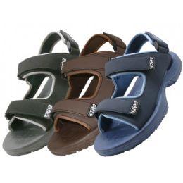 30 Units of Men's Velcro Strap Sandals - Men's Flip Flops and Sandals