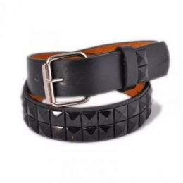 60 Units of Children's Metal Studded Belts in Black - Kid Belts