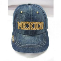 60 Units of Kids Mexico Baseball Caps - Kids Baseball Caps
