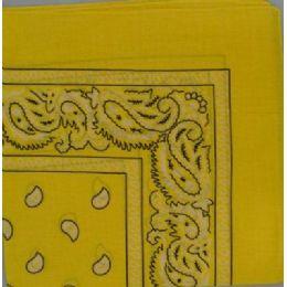 48 Units of BandanA-Yellow Paisley - Bandanas