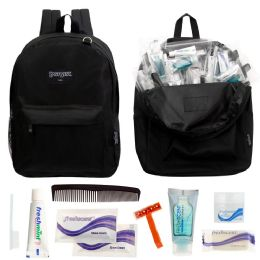 12 Units of 12 Backpacks And 12 Basic Hygiene & Toiletries Kit - First Aid and Hygiene Gear