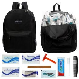 12 Units of 12 Backpacks And 12 Deluxe Hygiene & Toiletries Kit - First Aid and Hygiene Gear