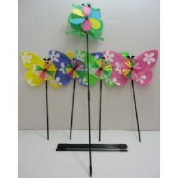 "60 Units of 5.5"" Wind SpinneR-Frog & Butterflies - Wind Spinners"