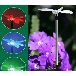 24 Units of Yard Stake Solar Light-Dragonfly - Garden Decor