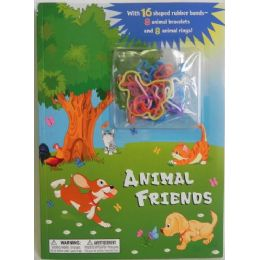 36 Units of Animal Friends Coloring Book with Bracelets - Bracelets