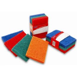 48 Units of 3 Pack Heavy Duty Scouring Pads - Scouring Pads & Sponges