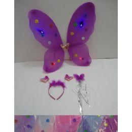 36 Units of 3pc Butterfly WingS-WanD-Headband Dress Up Set - Girls Toys