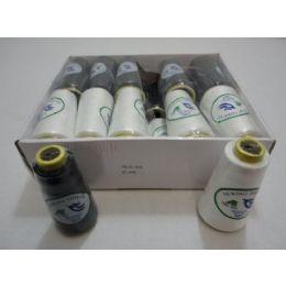144 Units of Black & White Thread Spool - Sewing Supplies