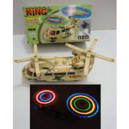 24 Units of Bump & Go Helicopter with Lights & Sound - Toy Sets