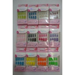 72 Units of Decorated Artificial NailS-Felt - Nail Polish