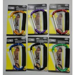 96 Units of Jumbo Carabiner With Padded Grip - Key Chains