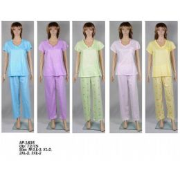 72 Units of Ladies PJ Set - Women's Pajamas and Sleepwear