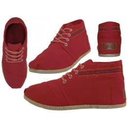 24 Units of Women's Canvas SHOES Red