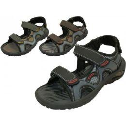 24 Units of Men's Velcro Strap Sandals - Men's Flip Flops and Sandals