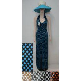 36 Units of Beach Dress [long]-Polka Dots - Womens Sundresses & Fashion
