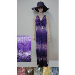 36 Units of Beach Dress [long]-Tie Dye - Womens Sundresses & Fashion