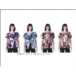 36 Units of Ladies Printed Fashion Top - Womens Fashion Tops