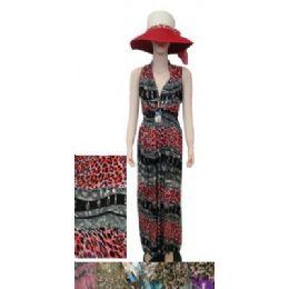 72 Units of Beach Dress [long]-Waves & Cheetah Print - Womens Sundresses & Fashion