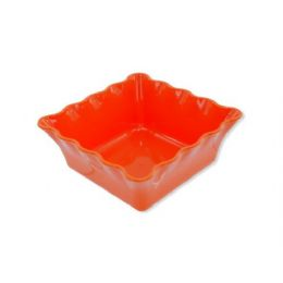 72 Units of Bright Colored Square Bowl - Plastic Bowls and Plates