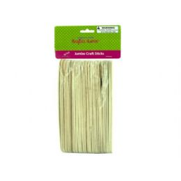 75 Units of Jumbo Wood Craft Sticks - Craft Wood Sticks and Dowels