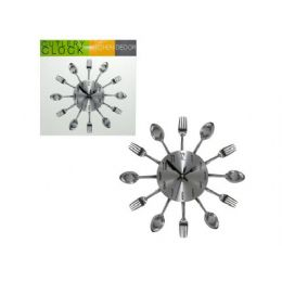 6 Units of Kitchen Cutlery Wall Clock - Wall Decor