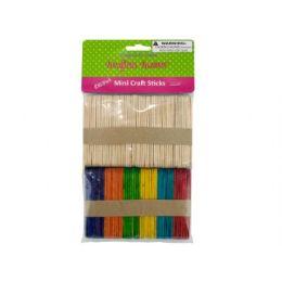 75 Units of MultI-Colored Mini Craft Sticks - Craft Wood Sticks and Dowels