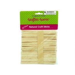75 Units of Natural Wood Craft Sticks - Craft Wood Sticks and Dowels