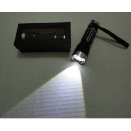 72 Units of 3w Super Bright Zoom Flashlight With Case [metal] - Flash Lights
