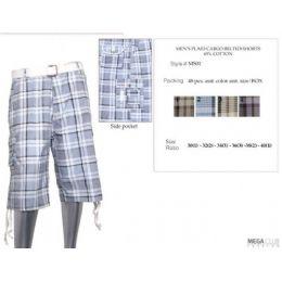 48 Units of Mens Plaid Cotton Blend Shorts - Mens Shorts