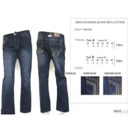 "12 Units of Mens Trendy Fashion Jeans Inseam 30"" - Mens Jeans"