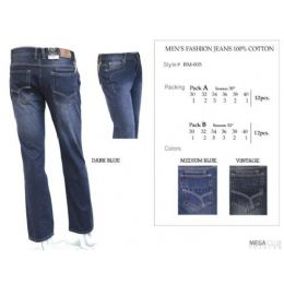"12 Units of Mens Trendy Fashion Jeans Inseam 32"" - Mens Jeans"