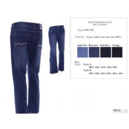 12 Units of Mens Trendy Fashion Jeans Size Scale 32-42 - Mens Jeans