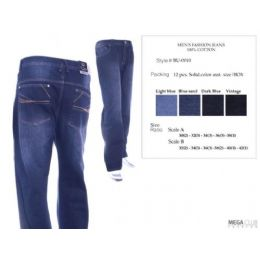 12 Units of Mens Trendy Jeans Sizes 30-38 - Mens Jeans