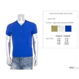 36 Units of Mens Henley Shirt 100% Cotton M-Xxl - Mens T-Shirts