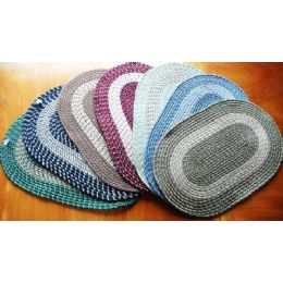 12 Units of Hand Woven Reversible Braided Rug - Home Decor