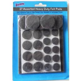 96 Units of Felt Pads Pack Of 27 Heavy Duty Self Adhesive - Home Accessories