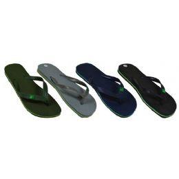 60 Units of Men's Solid Color Flip Flops - Men's Flip Flops and Sandals