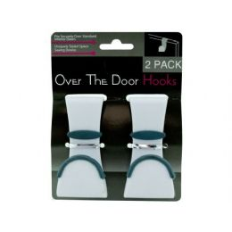 72 Units of 2 Pack Over The Door Hooks - Hooks