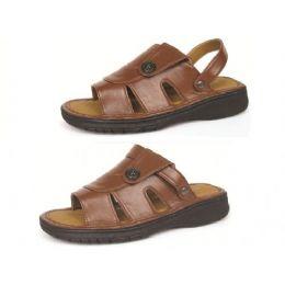 12 Units of Men's PU Fishermen Brown Sandals - Men's Flip Flops and Sandals