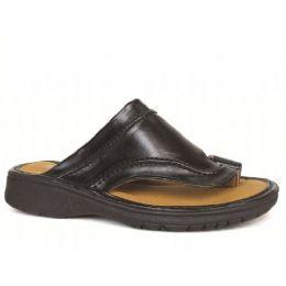 12 Units of Men's PU Fishermen Black sandals - Men's Flip Flops and Sandals