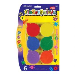 72 Units of Bazic Assorted Color 40ml Finger Paint (6/pack) - Paint, Brushes & Finger Paint