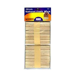 144 Units of BAZIC Natural Craft Stick (100/Pack) - Craft Wood Sticks and Dowels