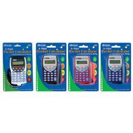 72 Units of Bazic 8-Digit Pocket Size Calculator W/ Neck String - Calculators
