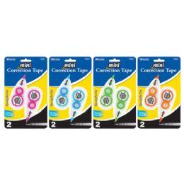 "24 Units of Bazic 5mm X 236"" Fashion Mini Correction Tape (2/pack) - Correction Items"