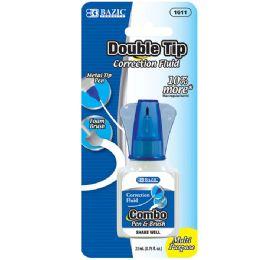 48 Units of Bazic 22ml 2 In 1 Correction W/ Foam Brush Applicator & Pen Tip - Correction Items