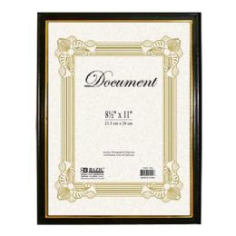"96 Units of BAZIC 8.5"" X 11"" Document Frame w/ Gold Border - Picture Frames"