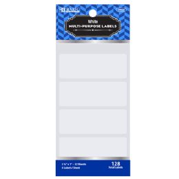 "72 Units of Bazic 2 3/4"" X 1"" White Multipurpose Label (128/pack) - Labels ,Cards and Index Cards"